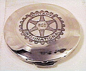 1952 Rotary International Sterling Silver CompactSterling silver compact