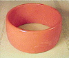 Bakelite-Bangle bracelet Pumpkin & White Swirl