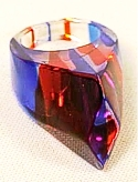 Faceted Lucite Ring sz 5