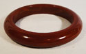 Bakelite-Bangle Bracelet Dark Cinnabar