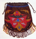 Germany Beaded Earthtone Reticule Bag