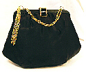 Black satin Lady Lewis pouch bag