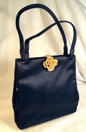Koret Navy Satin Handbag