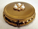 Dorset Fifth Avenue Gold Loose Powder Compact