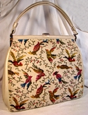 Cara Cavernous Bird Tapestry Handbag