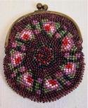 Precious Plum Piecrust Beaded Coin Purse