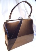 Fabulous 3-Tone Brown Metallic Fleck Vinyl Handbag