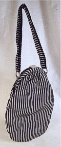 Garay Silver & Black Striped Handbag