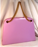 Garay Orchid Vinyl Handbag/Shoulder Bag