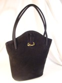Lennox Black Suede Cloth Handbag