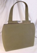 Annette Olive Green Suede Cloth Bag