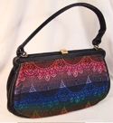Jewel Tone Pretty Silk Handbag