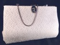 HL Harry Levine Silver & White Convertible Clutch Bag